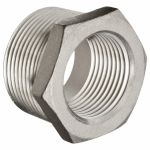 1 1/4` to 1/2`Hex Bushing / Thread Reducer 316 Stainless Steel