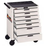 TCW807NW Roller Cabinet with 7 drawers White
