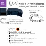 IGUS Begining and end piece set Series R157