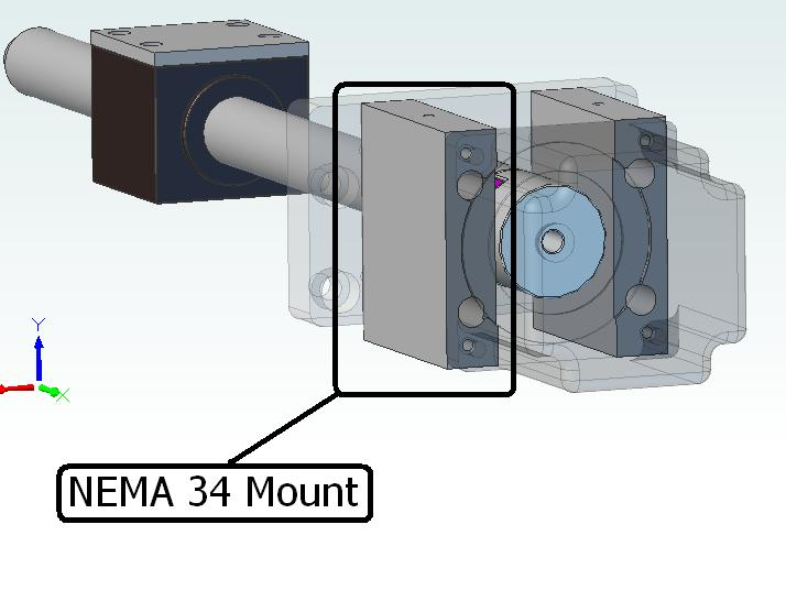 afbeelding 10111 nema 34 mount single piece