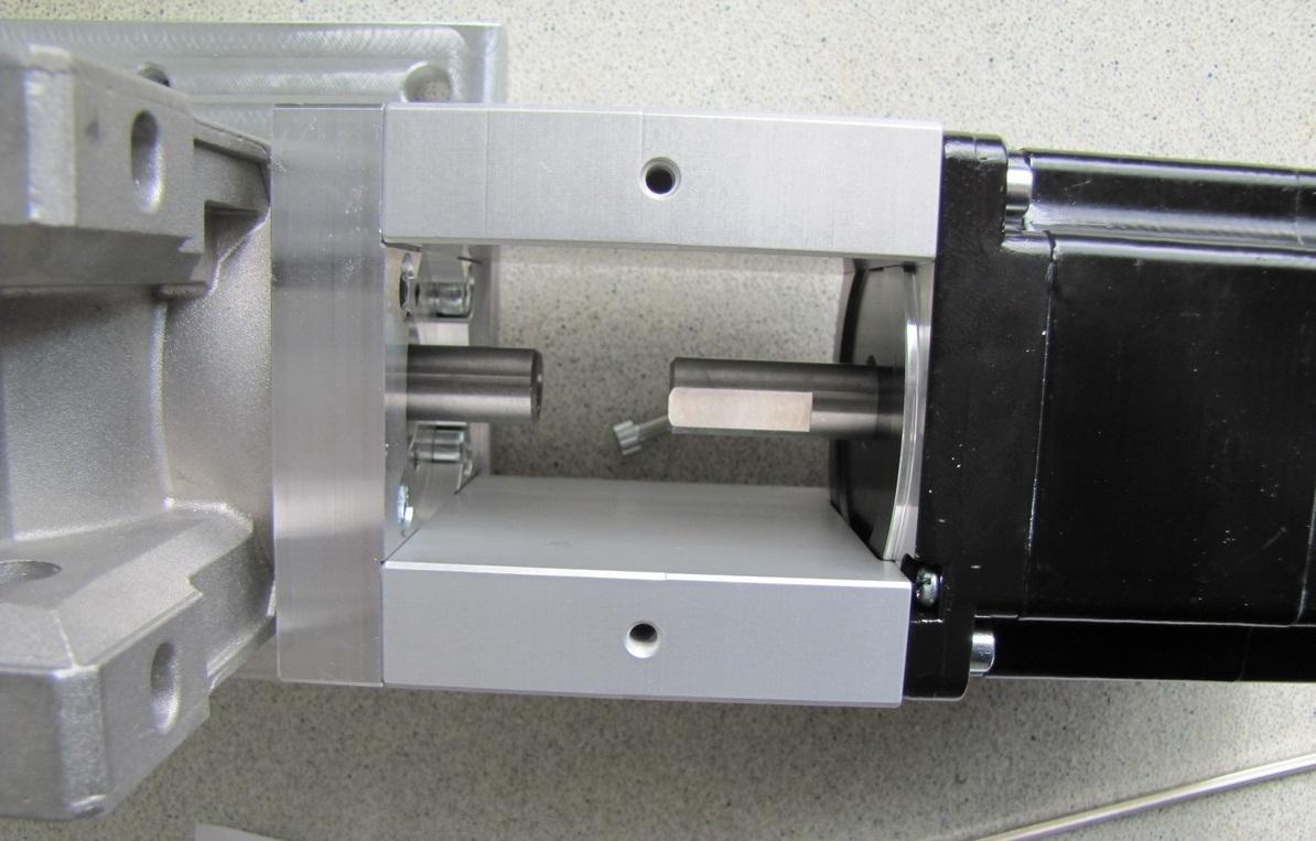afbeelding 10464 rp drive antibacklash v40 adapterplate to mount nema34 mount