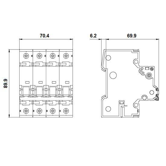 10amp 3pn circuit breaker siemens 5sy46107