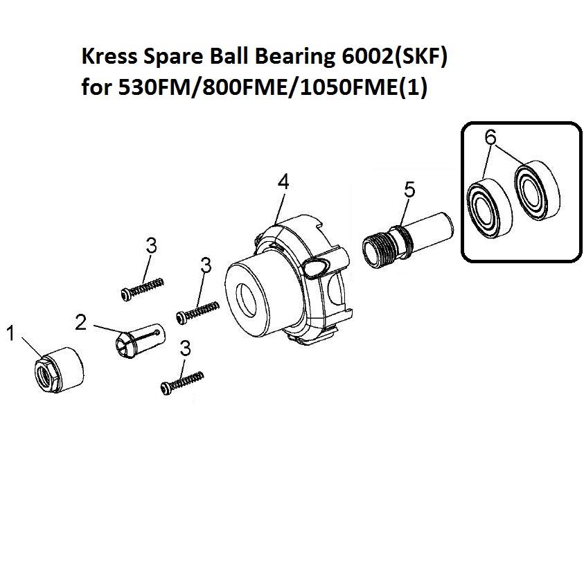 11171 kress spare ball bearing 6002skf