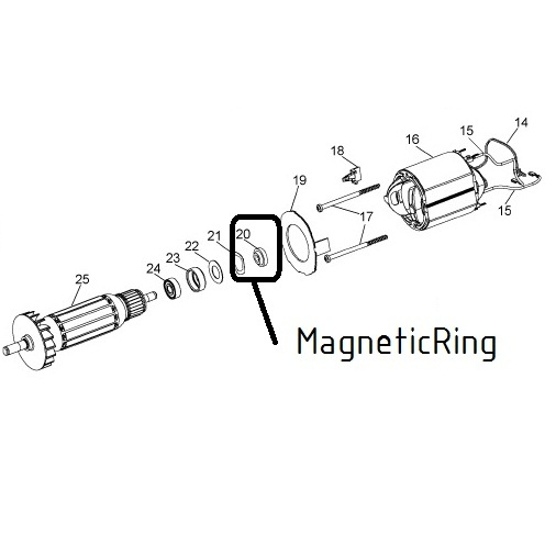 afbeelding 11842 kress spare magneticring fme800105010501