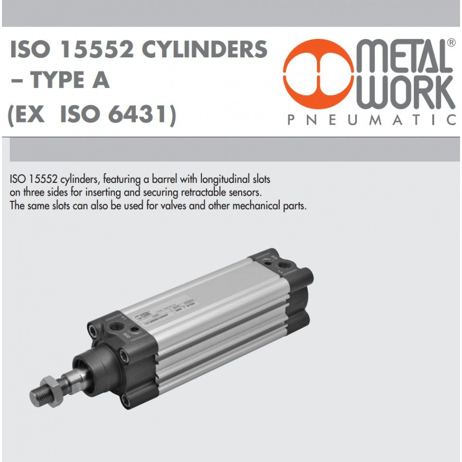 121 a 50 0100 xp pneumatic cilinder iso15552 series a