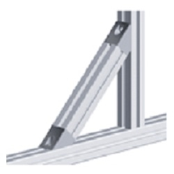 afbeelding 12712 angle connector 45 degree 40x40 nut 8
