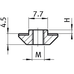 afbeelding 12932 hammer nut m6