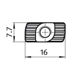 afbeelding 12933 hammer nut m6