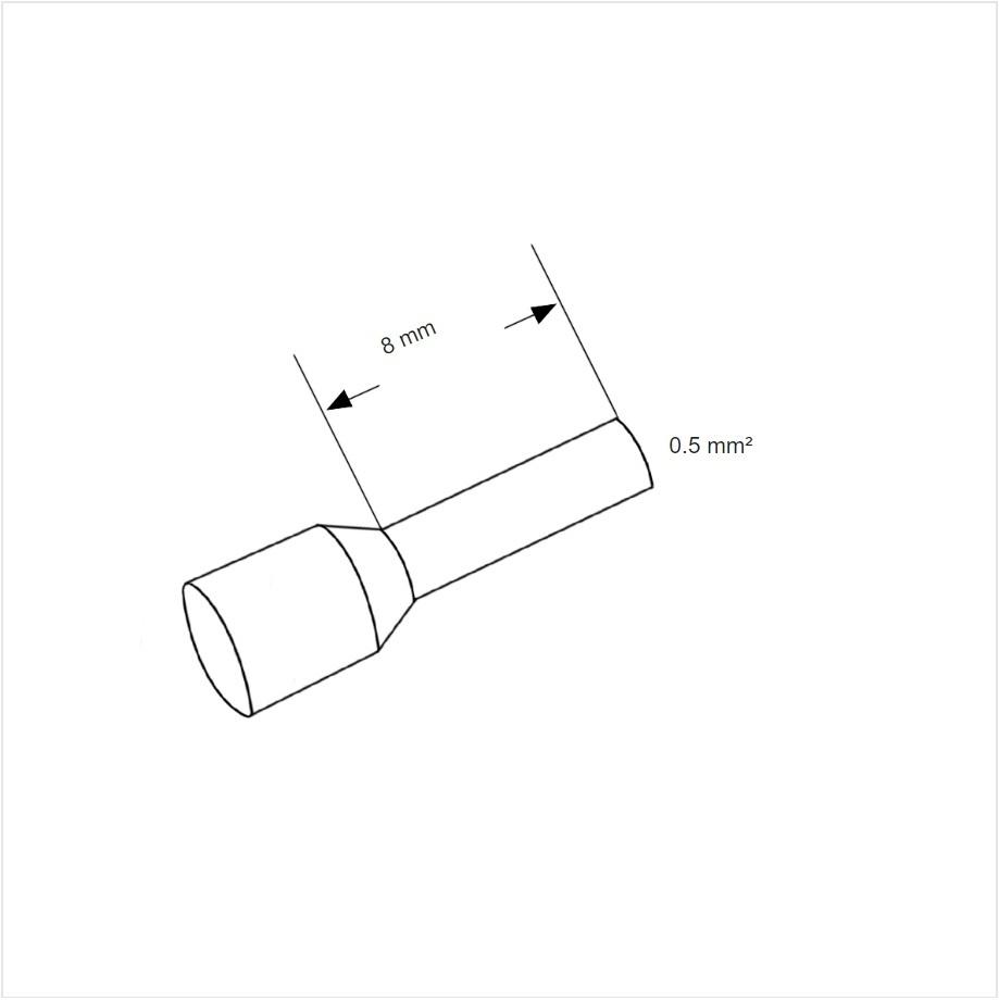 12981 ferrule aderhuls white 05mm l8mm