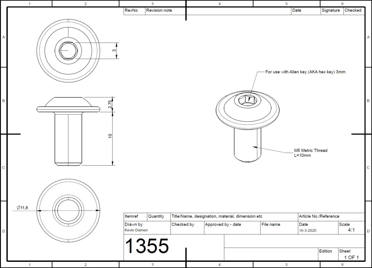 13552 m5x10 bolt iso 73802 with flange 2d dimensions