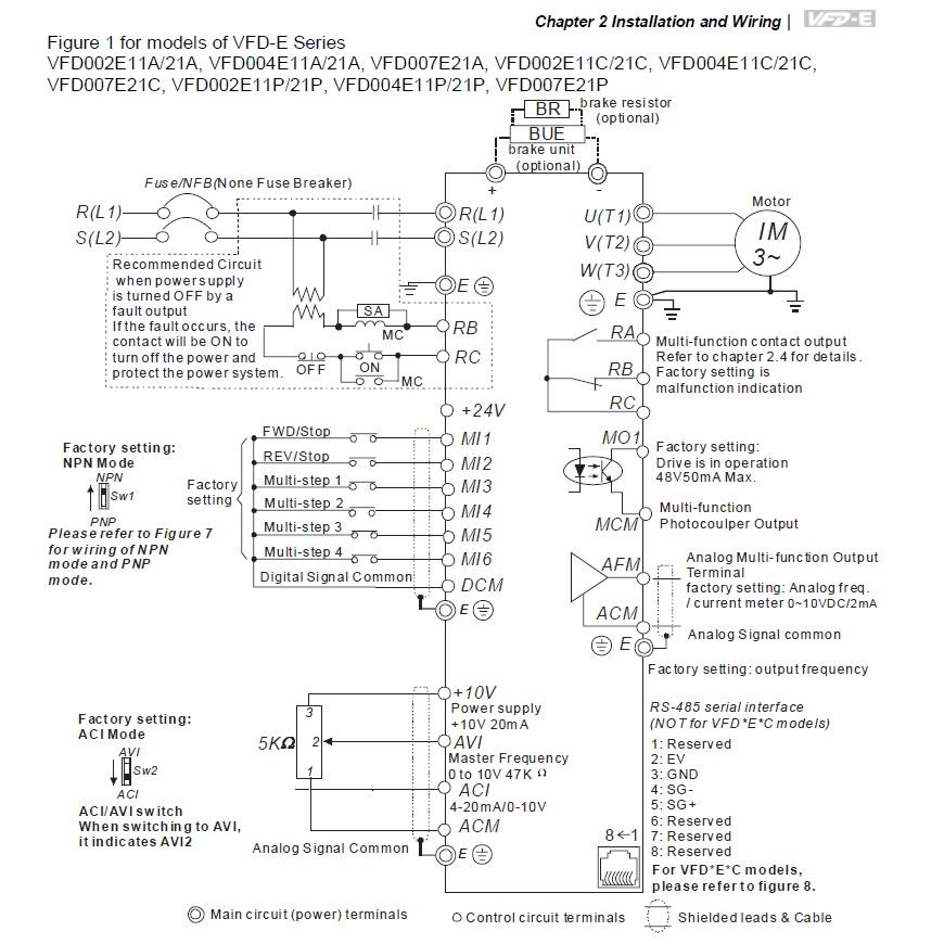 14293 vfd015e21a 1x220v3x220v 15kw keypad basic wiring 230vac single phase