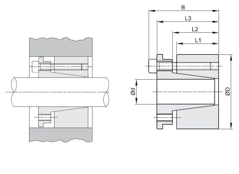 15562 bk70 locking assemblie bk70 d x d x 25x50 lt46mm