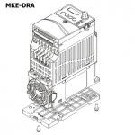 DELTA DIN-rail mount type A (72mm wide) MKE-DRA