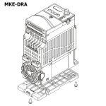 DELTA DIN-rail mount type A (72mm wide) MKE-DRA