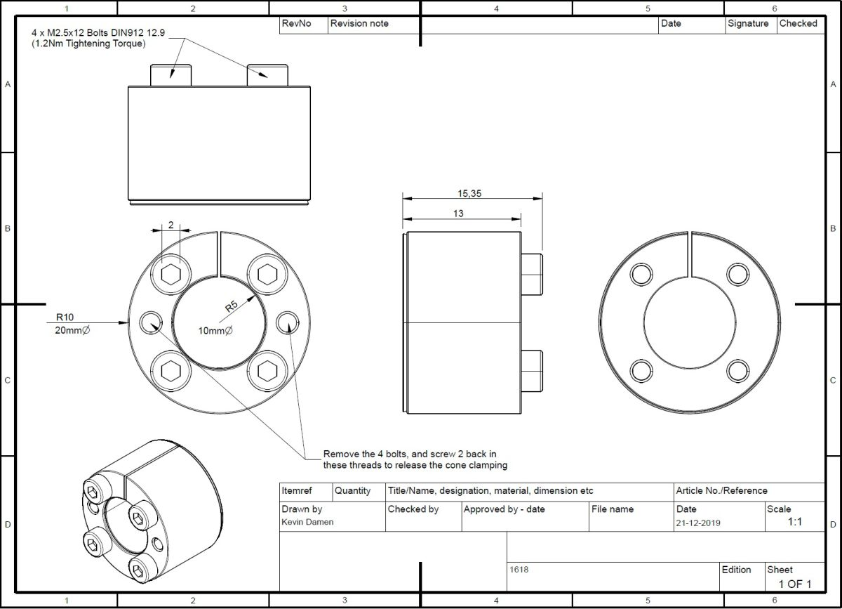 16182 locking assembly bk61 dxd 10x20 lt16 2d dimensions
