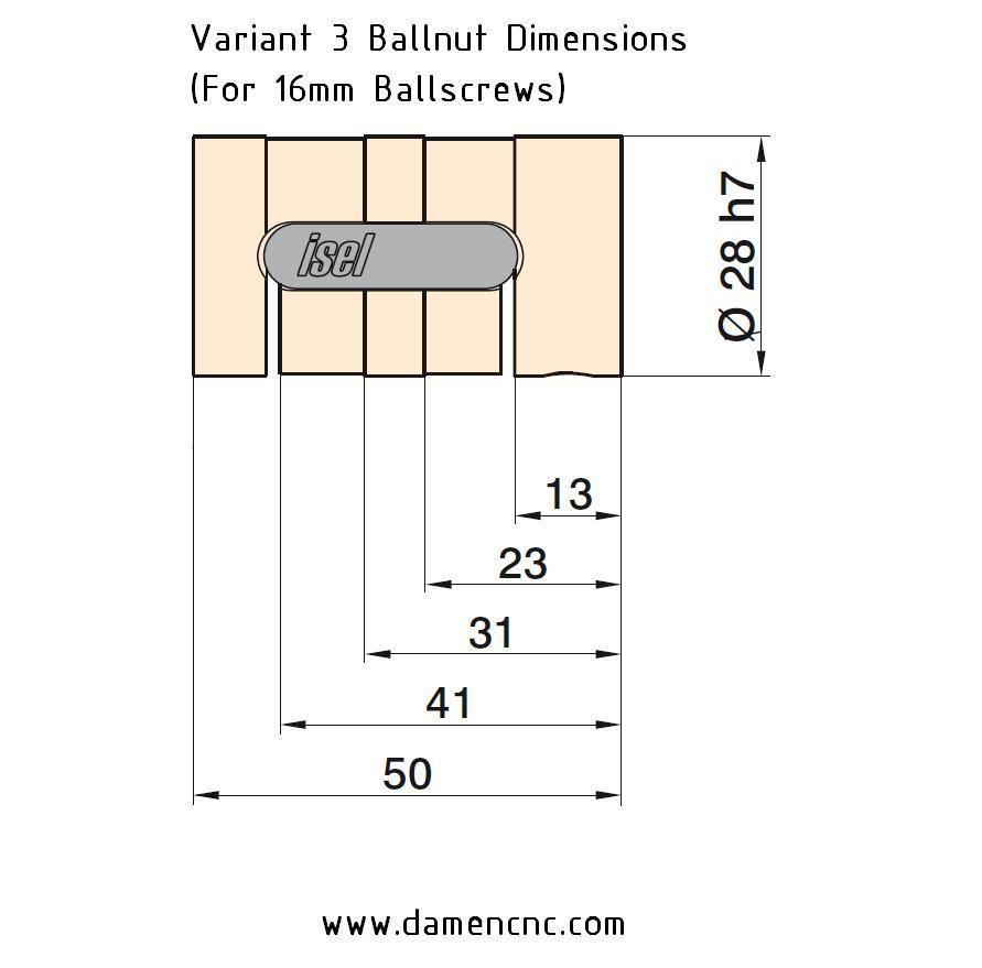 16mm ballnut variant 3 pitch 40mm 213514