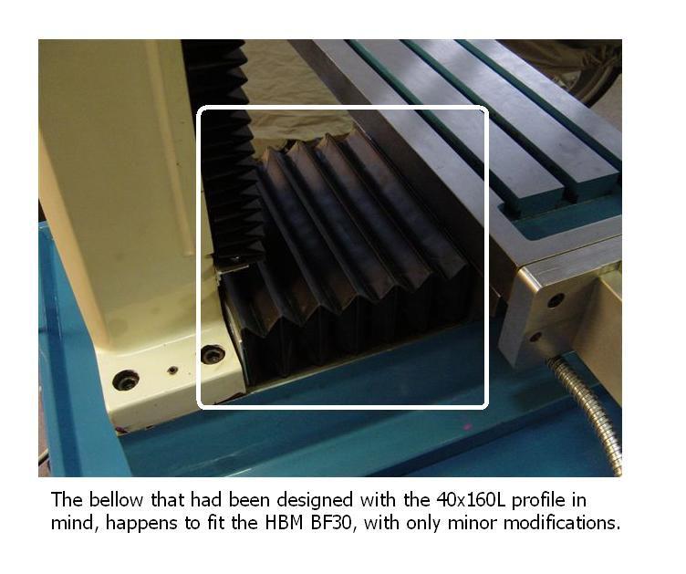 16mm ls module bellow 40x160l bellow 1 unfolded meter mountplates 2x