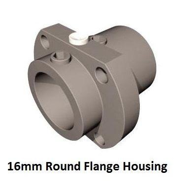 16mm spannblock 2 round flange housing 213501