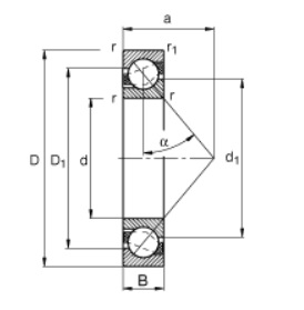 1783 angular contact bearing dimensions