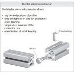 MayTec Universal Verbinder for E-slot (profile group 40)