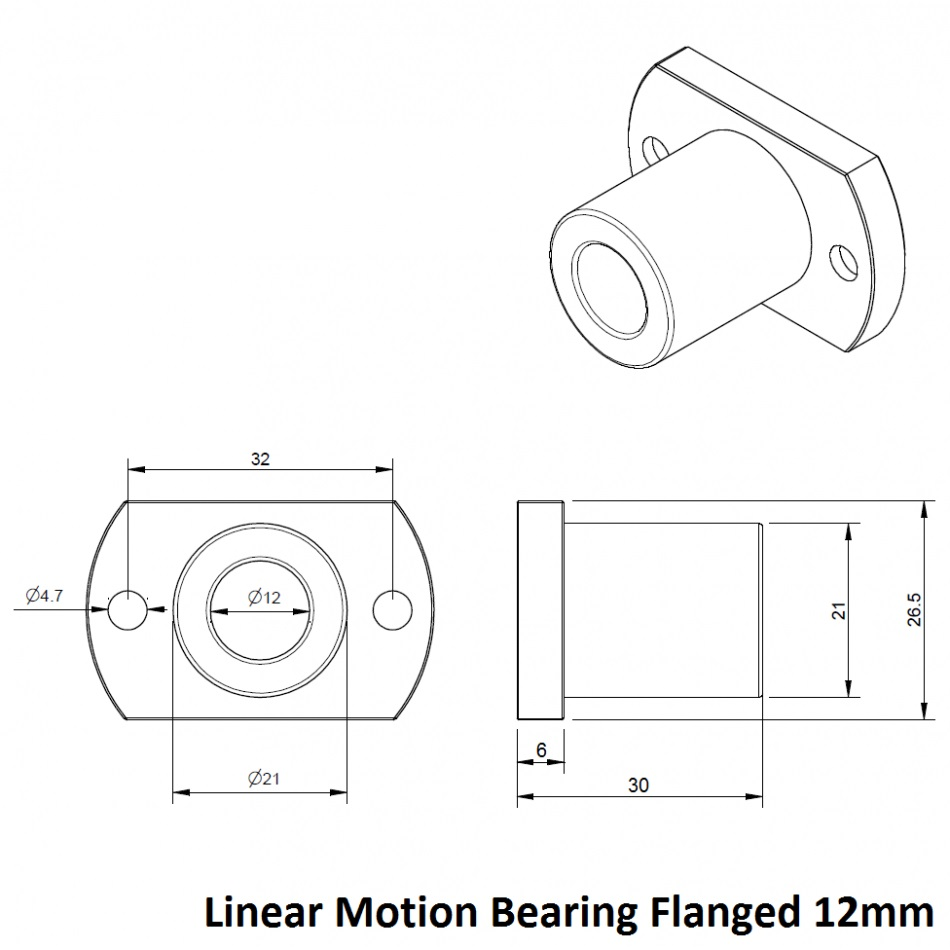 21022 lmt12uu linear motion bearing flanged dimensions