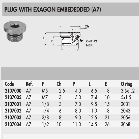 2107003 blanking plug 38