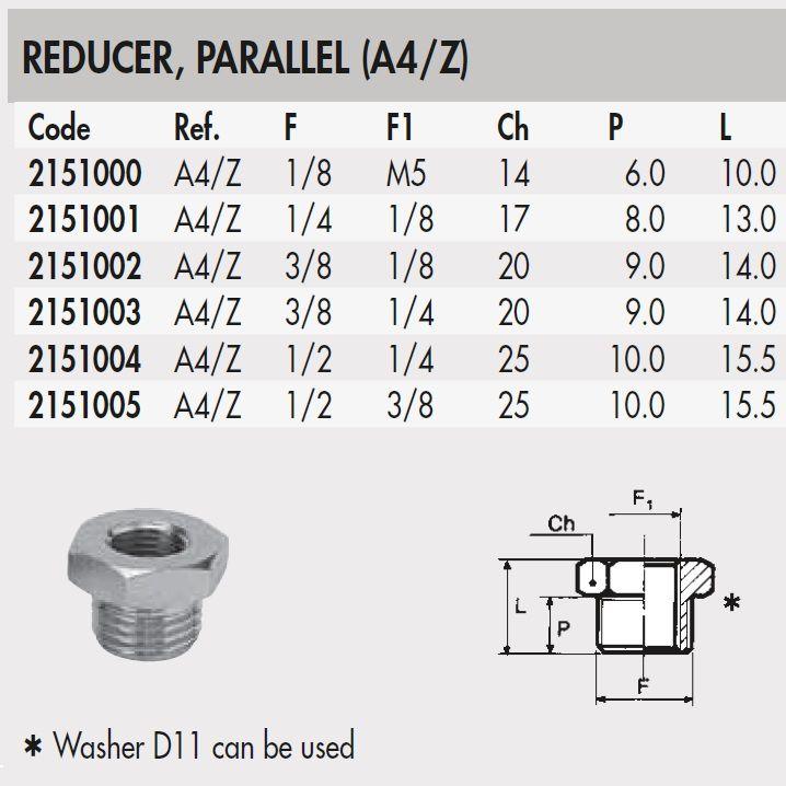 2151003 38 14 thread adapter straight thread a4z