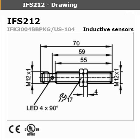21602 ifm ifs212 long model dimensions