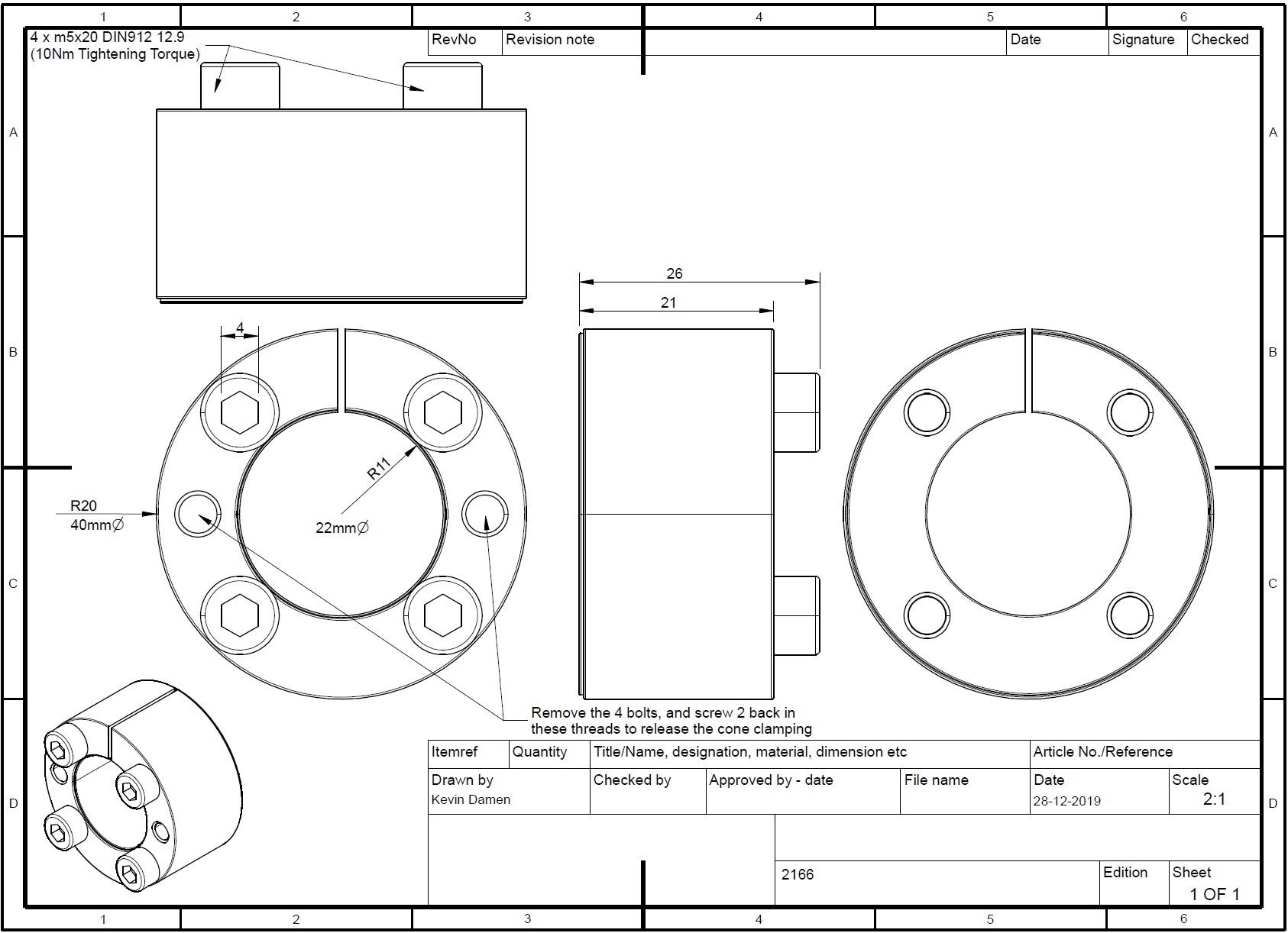 21662 locking assembly bk61 d x d x 22x40 lt26 2d dimensions