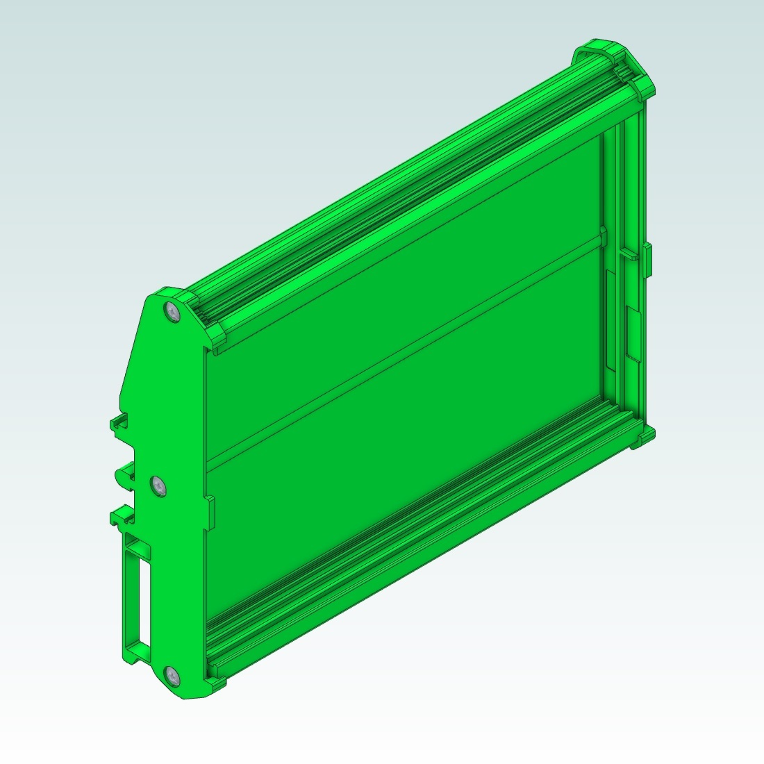 23401 dinrail mount for eurocard pcb 100x160mm