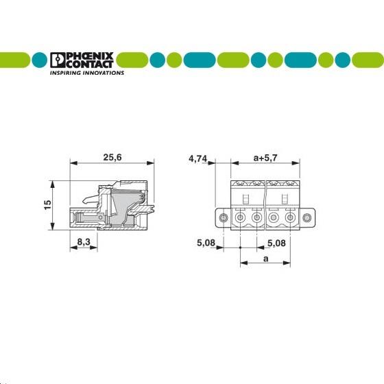 24162 pcb connector fkc 25 4stf508 1873223 dimensions