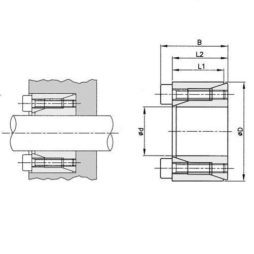 24313 bk61 locking assemblies bk61 d x d x 635x16 general dimensions
