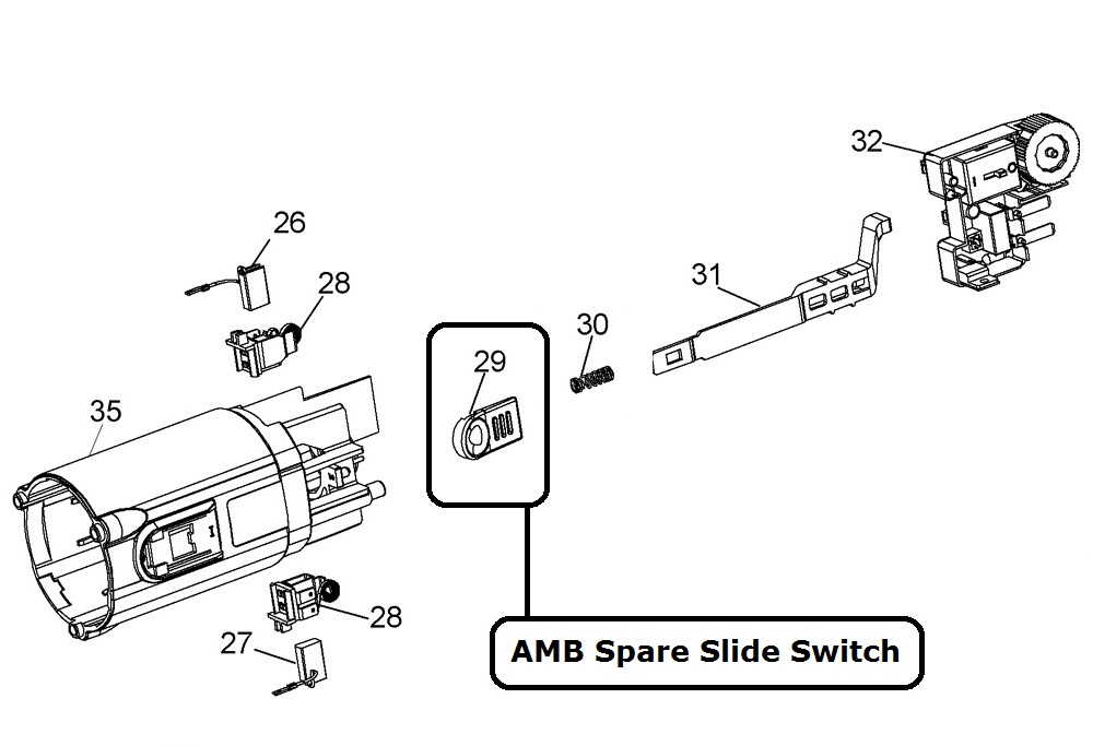 24581 amb spare slide switch