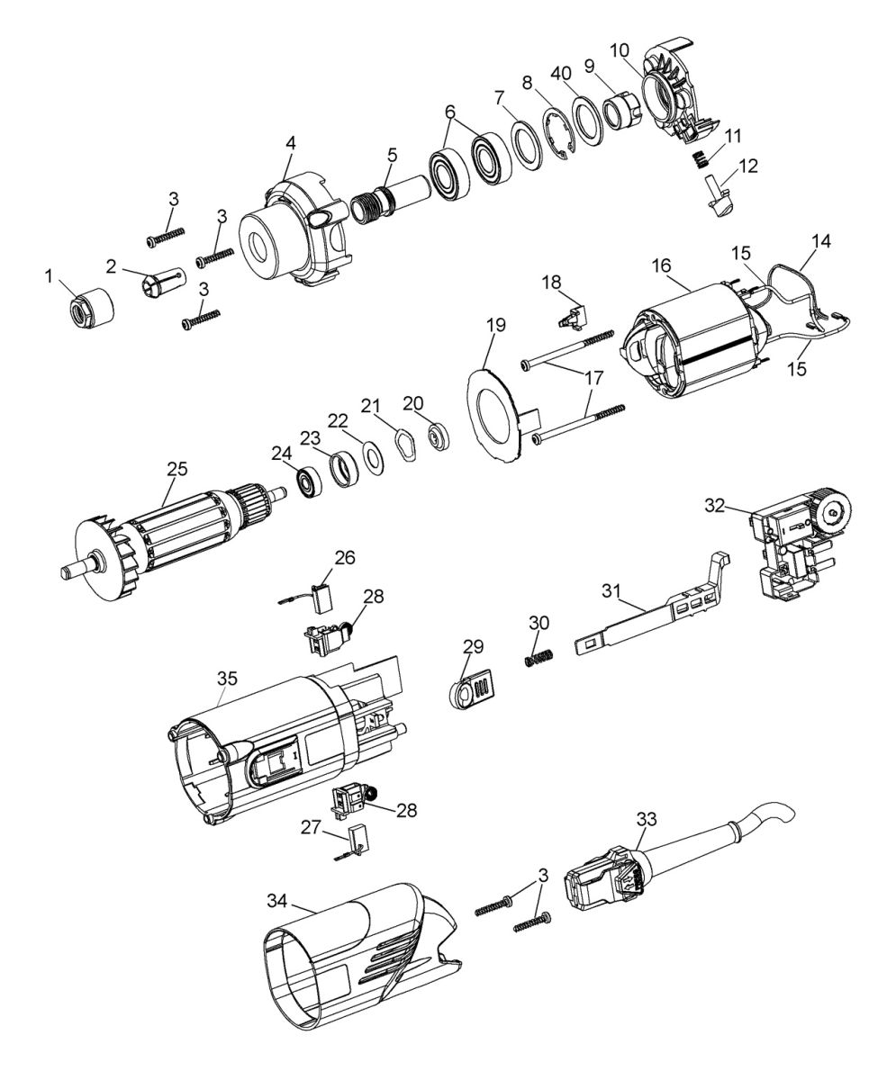 2458 kress 1050 spare parts