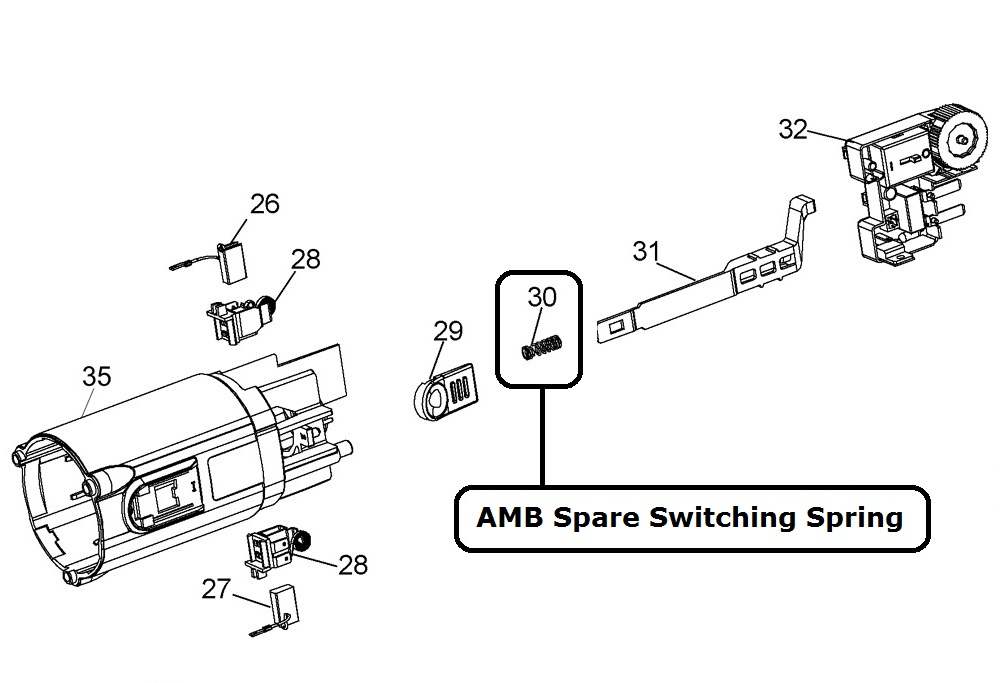 24591 amb spare switching spring