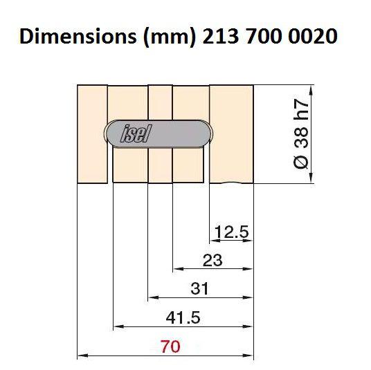 25mm ballnut variant 3 pitch 20mm 213 700 0020