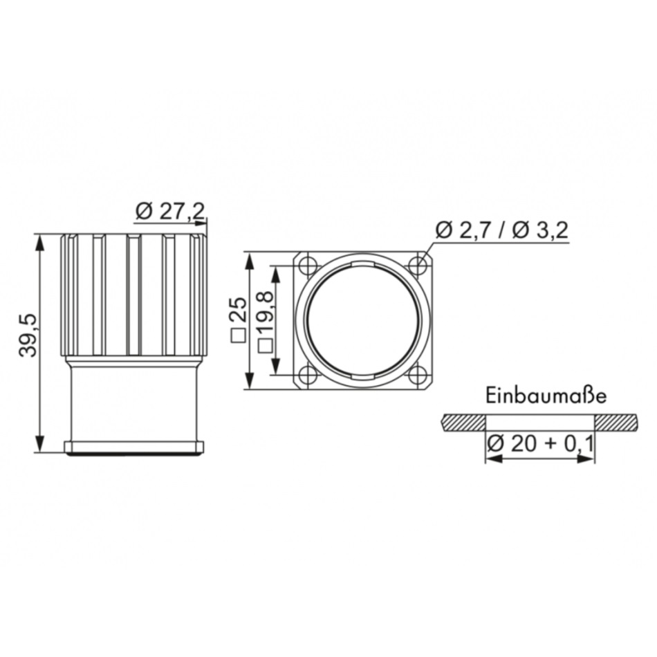 27652 chassis housing female thread