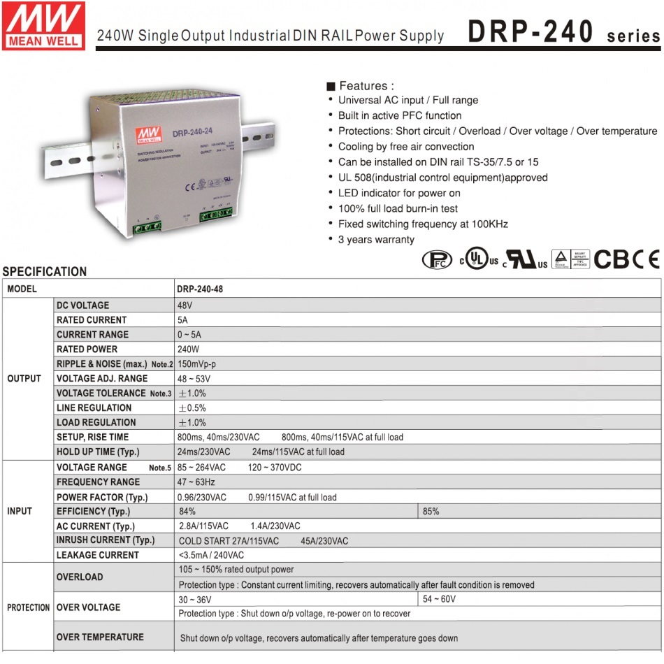 29443 meanwell drp24048 48vdc tech specs
