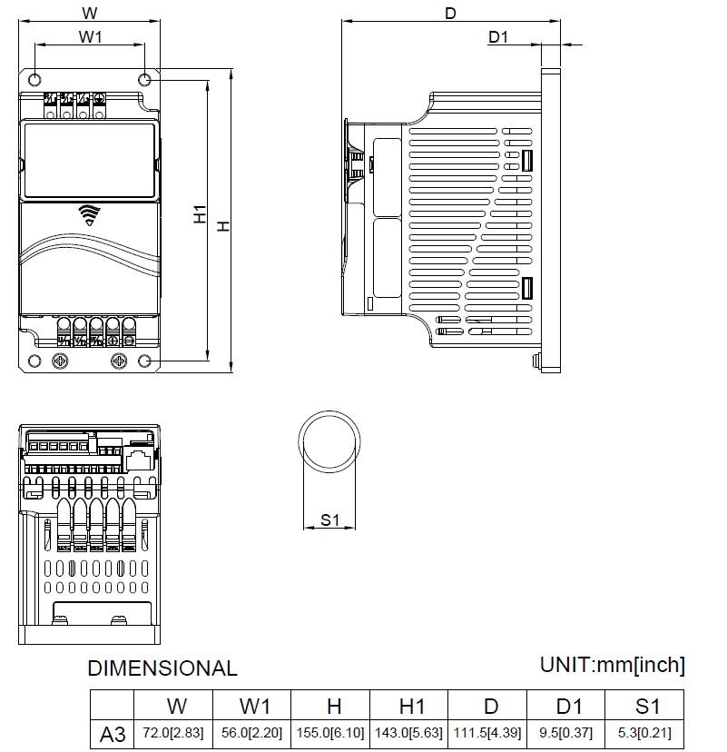 29692 vfd004e21p 1x220v3x220v 04kw keypad coldplate dimensions