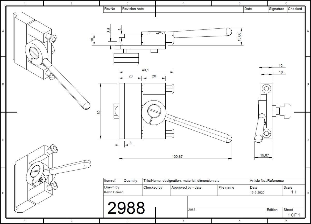 29889 isel sh1 quick clamp 2d dimensions