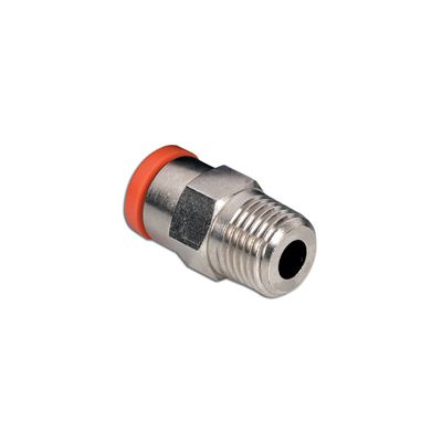 2l01c09 push in fitting 8mm x 18 inch conical thread