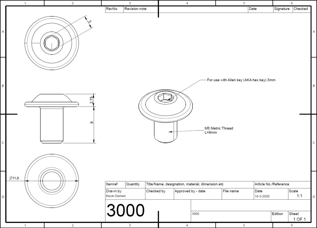 30002 m5x8 bolt iso 73802 with flange 2d dimensions