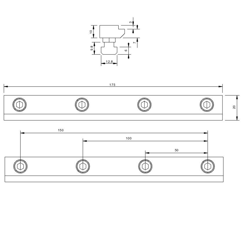 30762 isel stop rails set of 2 b20 x h10 x l175mm tnuts 2d dimensions