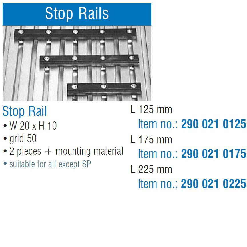 30765 isel stop rails set of 2 b20 x h10 x l175mm tnuts overview