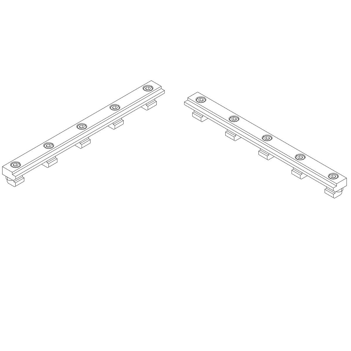 30771 isel stop rails set of 2 b20 x h10 x l225mm tnuts 3d render