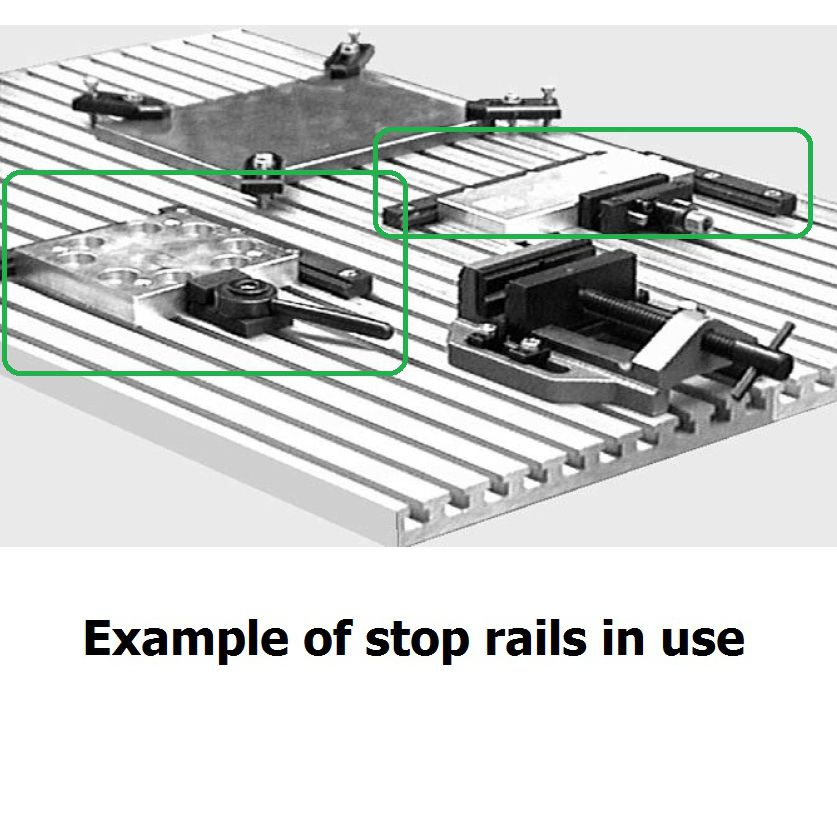 30773 isel stop rails set of 2 b20 x h10 x l225mm tnuts example of rails in use