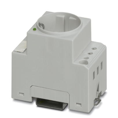 32911 2963488 din rail electrical socket with led greyhousing push in terminals