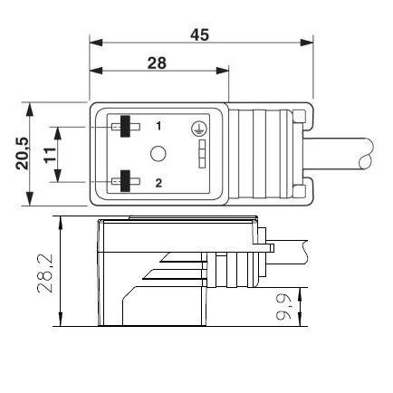 34123 prewired valve connector 2 meters