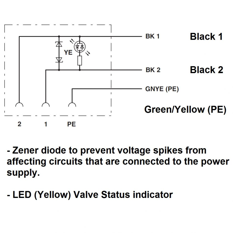 34132 prewired valve connector 5 meters