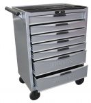 TCW807NW Gereedschapwagen with 7 drawers silver